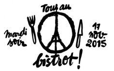 """Le logo de l'opération reprend le dessin de """"Peace for Paris"""", une Tour Eiffel dans un rond noir réalisé par le graphiste Jean Jullien, qui se transforme pour l'occasion en assiette, entourée d'un couteau et d'une fourchette. - Fooding"""