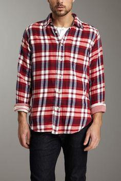 Red & Blue Plaid Woven Shirt