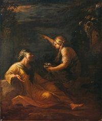 Vertumne et Pomone by Salvator Rosa
