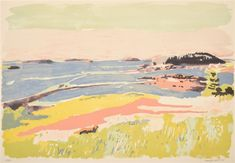 View South Meadow by Fairfield Porter on artnet. Browse upcoming and past auction lots by Fairfield Porter. Fairfield Porter, Sketches Of Love, Abstract Landscape, Landscape Paintings, Landscapes, American Artists, Deco, Art Images, Illustration Art