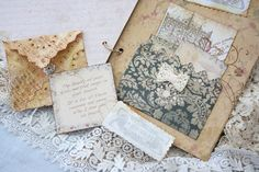 Wedding Guest book with old lace style by youruniquescrapbook