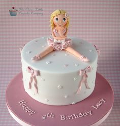 Ballerina birthday cake - The Clever Little Cupcake Company