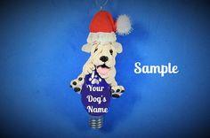 Soft-Coated Wheaten Terrier Santa dog by sallysbitsofclay on Etsy