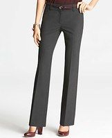 """Petite Signature All-Season Stretch Trousers - Perfectly proportioned, expertly detailed and simply seasonless, this trouser leg pair is made with our endlessly flattering all-season stretch fabric. Sits just below natural waist. Our most relaxed fit, relaxed through the hip, thigh and back. Contoured curtain waistband offers extra tailoring detail for a better fit. Front zip with double hook-and-bar closure. Belt loops. Front off-seam pockets. Back besom pockets. 30"""" inseam."""