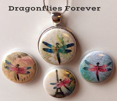 Dragonfly Interchangeable Magnetic Necklace by BellyLaughButtons, $10.00