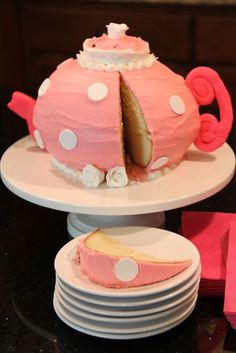 Shower of Roses: A Pretty Pink Tea Pot Cake Tutorial