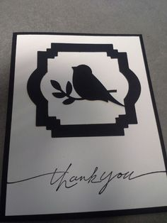 Thank you Card ~ Stampin Up Bird Punch
