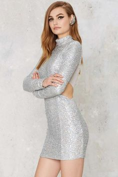 Take a Shine Sequin Cutout Dress – Christmas and Holiday Cocktail Dresses