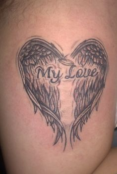 heart with wings tattoo | Wings Tattoos