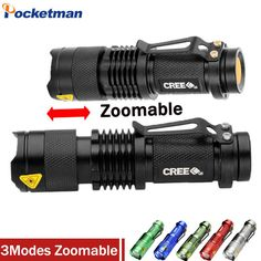 High-quality Mini LED Flashlight CREE Q5 2000LM Powerful Flashlight LED Laterna 3Modes Zoomable Portable 6Colors Torch #Affiliate