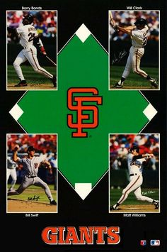 Giant Star, San Francisco Giants, Sports Illustrated, Vintage Posters, Bond, Vintage Items, Stars, Collage, Products