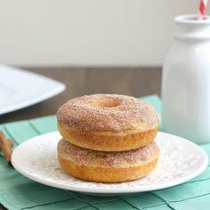 Baked Maple Cinnamon-Sugar Donuts: No frying necessary.