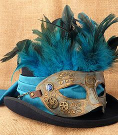 Steampunk Top Hat _ The Venetian. Let the stories unfold...hats with originality, designed to appeal to the swashbuckling adventurer, bold pioneer, eccentric scientist or hopeless romantic.