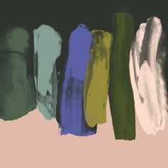 When it came time for Reeta Ek& thesis, she rejected all of textile design& rules and created painterly compositions with no repeats or restraints. Colour Schemes, Color Patterns, Color Combos, Palette Pastel, Green Palette, Art Watercolor, Collage, Foto Art, Color Stories