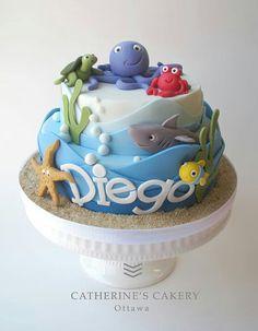 Sea sun sand cake for child