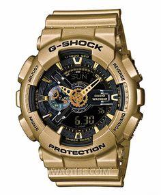 Casio G-Shock Ironman All Golden Black Dial For Men Štěňata 9fa0205829