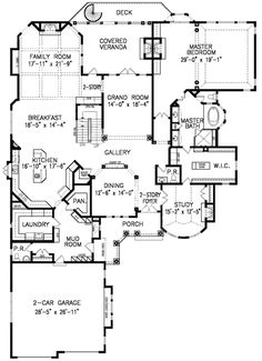 plan w54123bh: narrow lot, photo gallery, european, hill country