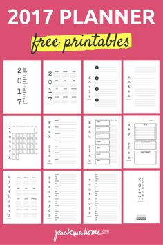 Free 2017 Printable Planner. More than 20 Pages to help you stay organized.