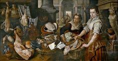 J. Beuckelaer, Cristo en casa de Marta y María (1568)