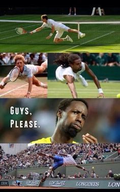 Wow! Gael Monfils showin' them how it's done LOL