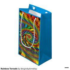 Rainbow Tornado Small Gift Bag