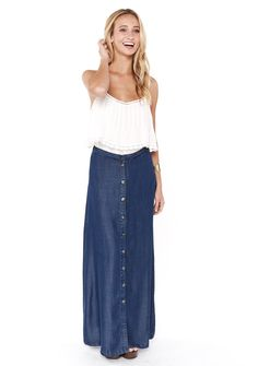 Denim Chambray Maxi Skirt IF I GOT ONE THING IN MY NEXT FIX MAKE ...