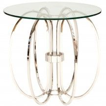 Deco Style Nickel Square Table - End Tables - Accent Tables - Furniture