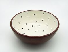 Hand painted bowl by Susan Simonini.