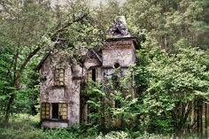 Mansion in decay by DCarlier Reminds me of Hansel and Gretel..maybe too large but lost in the woods.