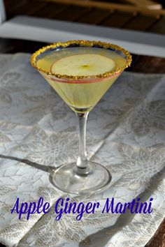 Apple Ginger Martini