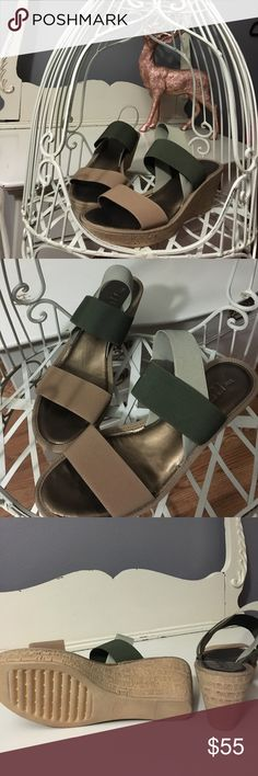 The Flexx sandals NWOT The Flexx sandals. Khaki, olive and sage. Padded footbed THE FLEXX Shoes Sandals