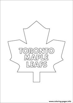Toronto Maple Leafs Logo Nhl Hockey Sport Coloring Pages Printable And Book To Print For Free Find More Online Kids Adults