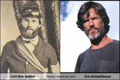 Time-Traveling #Celebs - Civil War Soldier Totally Looks Like Kris Kristofferson