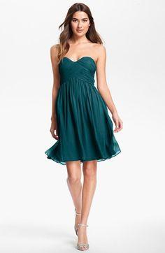 $178.00 Donna Morgan 'Morgan' Strapless Silk Chiffon Dress (Regular & Plus) available at #Nordstrom