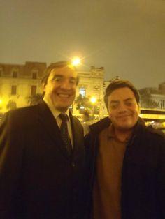 Con el Congresista Lescano en Paseo Colón. (2011)