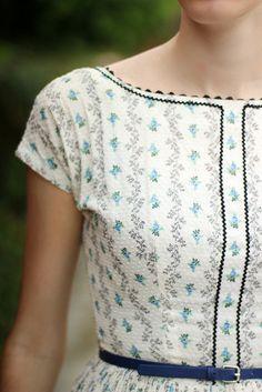 Swiss Dot & Florals. I love the pattern!