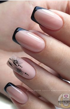 Square Nail Designs, Nail Art Designs, French Tip Nails, French Manicure With Design, Cute Nails, Pretty Nails, Toe Nail Color, Classy Nail Designs, Classic Nails
