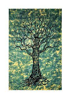 Tree of life print Tapestry, Indian Hippie Wall Hanging RawyalCrafts http://www.amazon.com/dp/B00OCKAKYU/ref=cm_sw_r_pi_dp_dfehvb1PYDDZ9