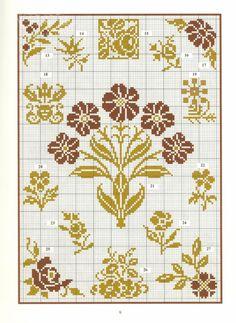 "ru / anapa-mama - Album ""patterns and ornaments"" Cross Stitch Borders, Cross Stitch Flowers, Cross Stitch Charts, Cross Stitch Designs, Cross Stitching, Cross Stitch Embroidery, Cross Stitch Patterns, Stitch Witchery, Needlework"