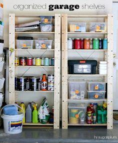 Garage organization tips- Shelves from IKEA? I'm impressed