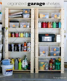 Garage organization tips- Shelves from IKEA? I'm impressed