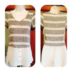 Kiss & Cry fab top NWOT I love this style!  It is long and flowy with a layered look without the weight of actual layers. The only problem is that it is too small in the bust for me. It would be perfect for an A or B cup. Never Worn Tops