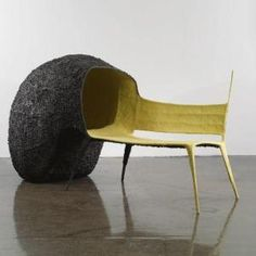 I am intrigued by the attached pod thing. A little kid could sleep in there, make a fort in there, and cats would love it! Cat Furniture, Furniture Design, Theme Design, Pod Chair, Single Chair, Take A Seat, Art Object, Nachos, Chair Design