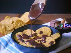 SNICKERS Nachos   by Life Tastes Good Dessert Nachos, Unique Desserts, Football Season, Cookies, Breakfast, Sweet, Recipes, Life, Food