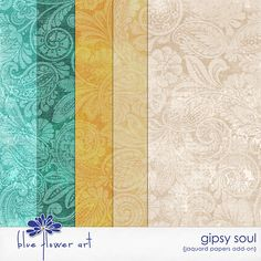 Quality DigiScrap Freebies: Gipsy Soul paper pack freebie from Blue Flower Art