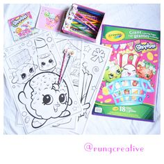 Today after school art activity. @shopkinsworld  #shopkins #art #creative #afterschool #colouring #lesson #fun #activity #kids #learning #happy