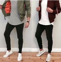 Basic white shirt over black pants layout. Mode Outfits, Casual Outfits, Black Pants Outfit, Style Masculin, Men Looks, Mens Clothing Styles, Stylish Men, Street Wear, Menswear
