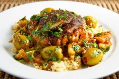 Moroccan Chicken Tagine with Olives and Preserved Lemons (or citrons) ~ Moroccan citrons named after Morocco