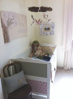 from plain Ikea Hensvik to custom fabric panelled crib!