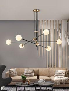 Chandelier In Living Room, Living Room Lighting, Modern Chandelier, Chandelier Lighting, Living Room Decor, Ceiling Light Living Room, Chandelier Ideas, Modern Lamps, Chandeliers